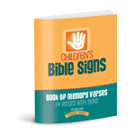 Children's Bible Signs Memory Book