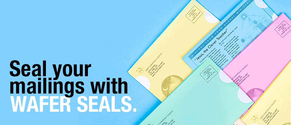 Seal your mailings with Wafer Seals!