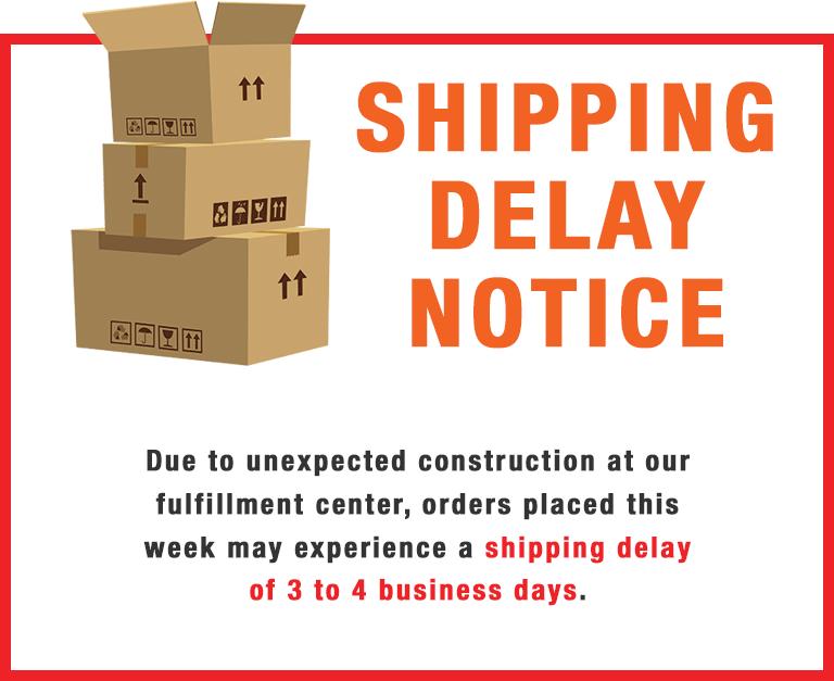 Shipping Notice Delay.