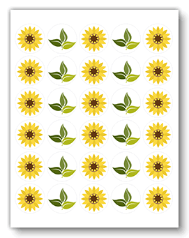 YELLOW FLOWER template