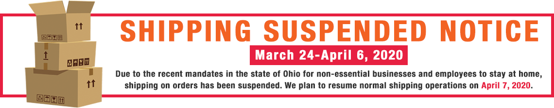 Shipping Suspended Notice