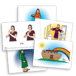 Children's Bible Signs Flash Cards