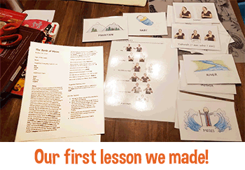 Our First Lesson we made!