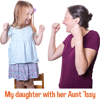My Daughter with her Aunt 'Issy.