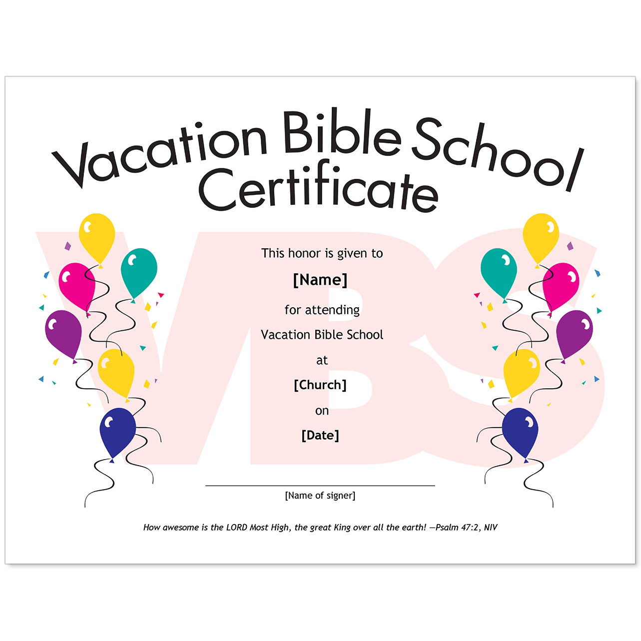 picture about Vbs Certificate Printable named Critical Church Certificates - Childrens Model