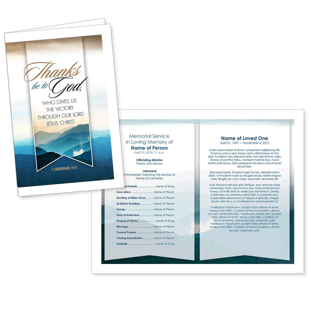 Premium Church Templates for Funeral Programs